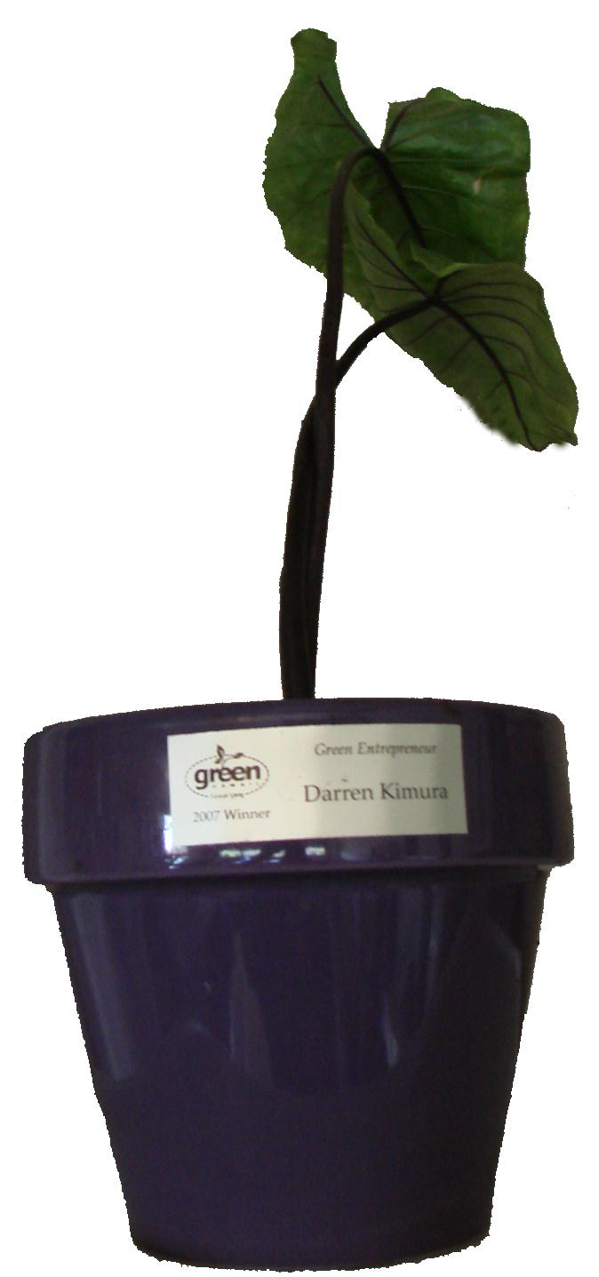 Darren receives award as Hawaii's first Green Entrepreneur of the Year