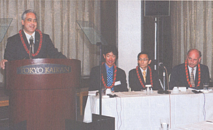 Presenting at the Nikkei in Tokyo