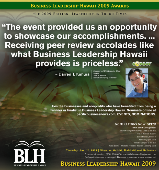 Business Leadership Hawaii 2009 Awards